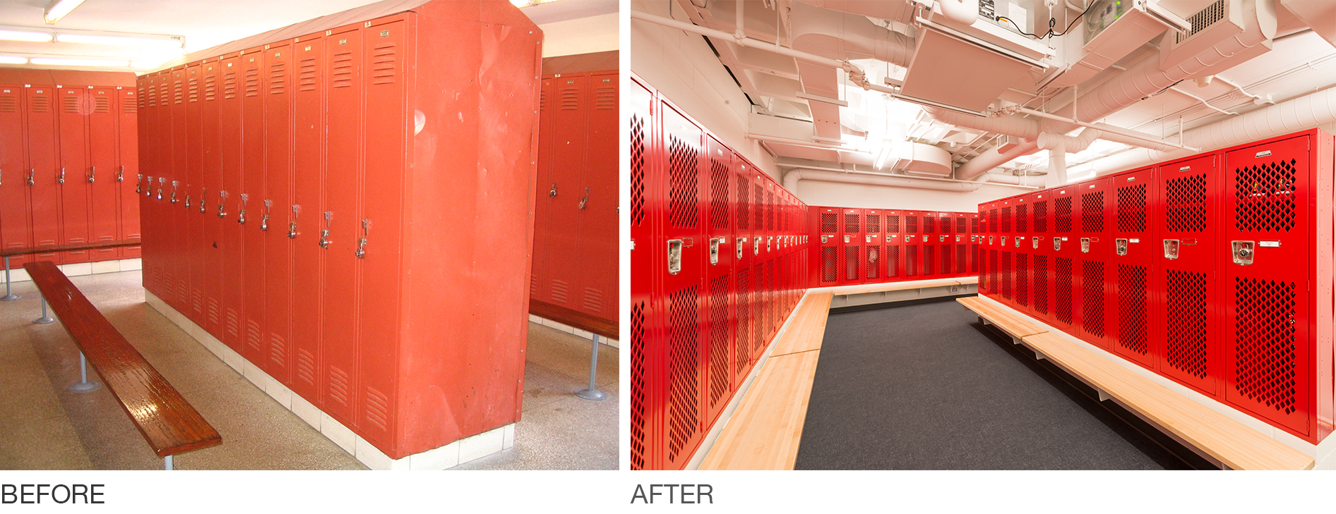 SMMA Renovation Worcester Polytechnic Institute (WPI) locker rooms