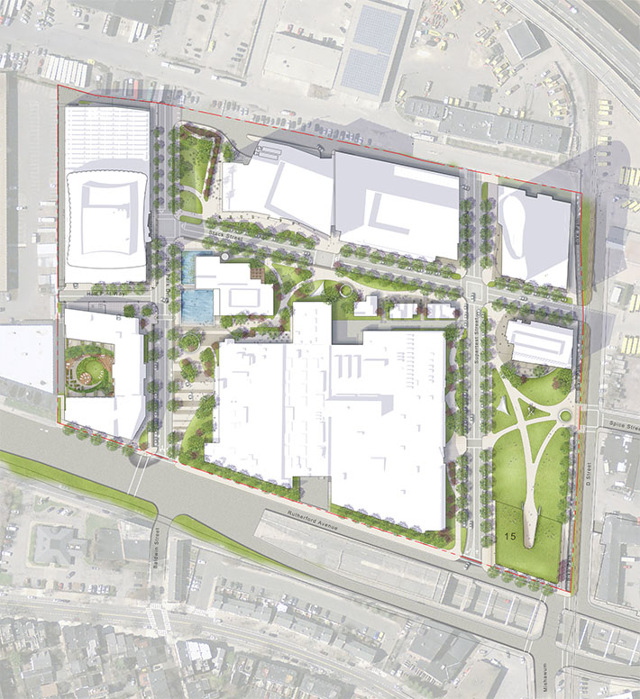 Overhead view of SMMA site design drawing