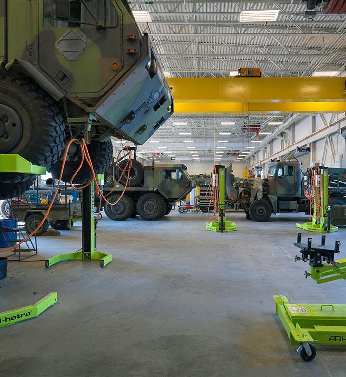 Large tank at Fort Devens Armed Forces Reserve Center