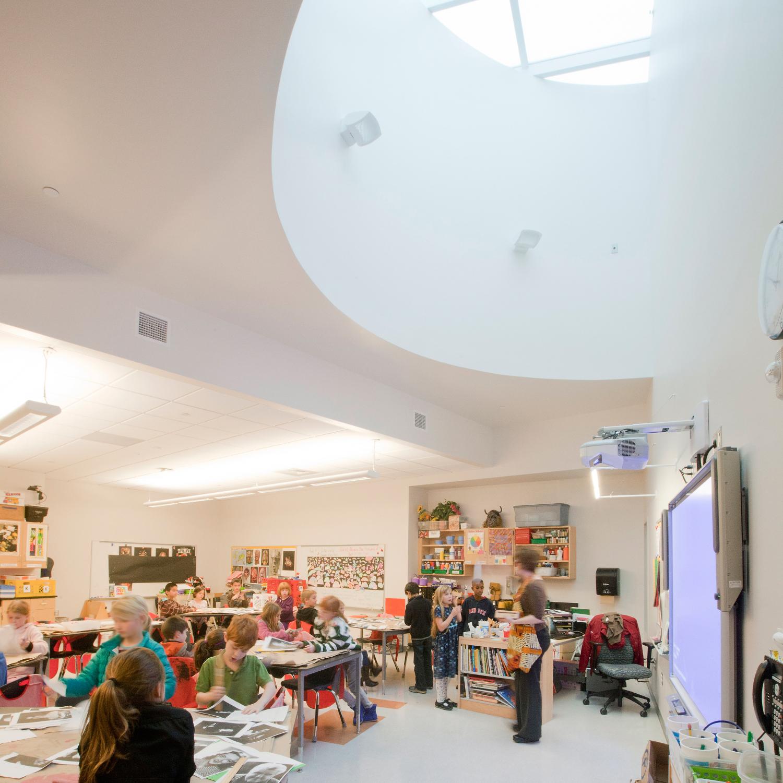 Classroom with Daylighting Skylight