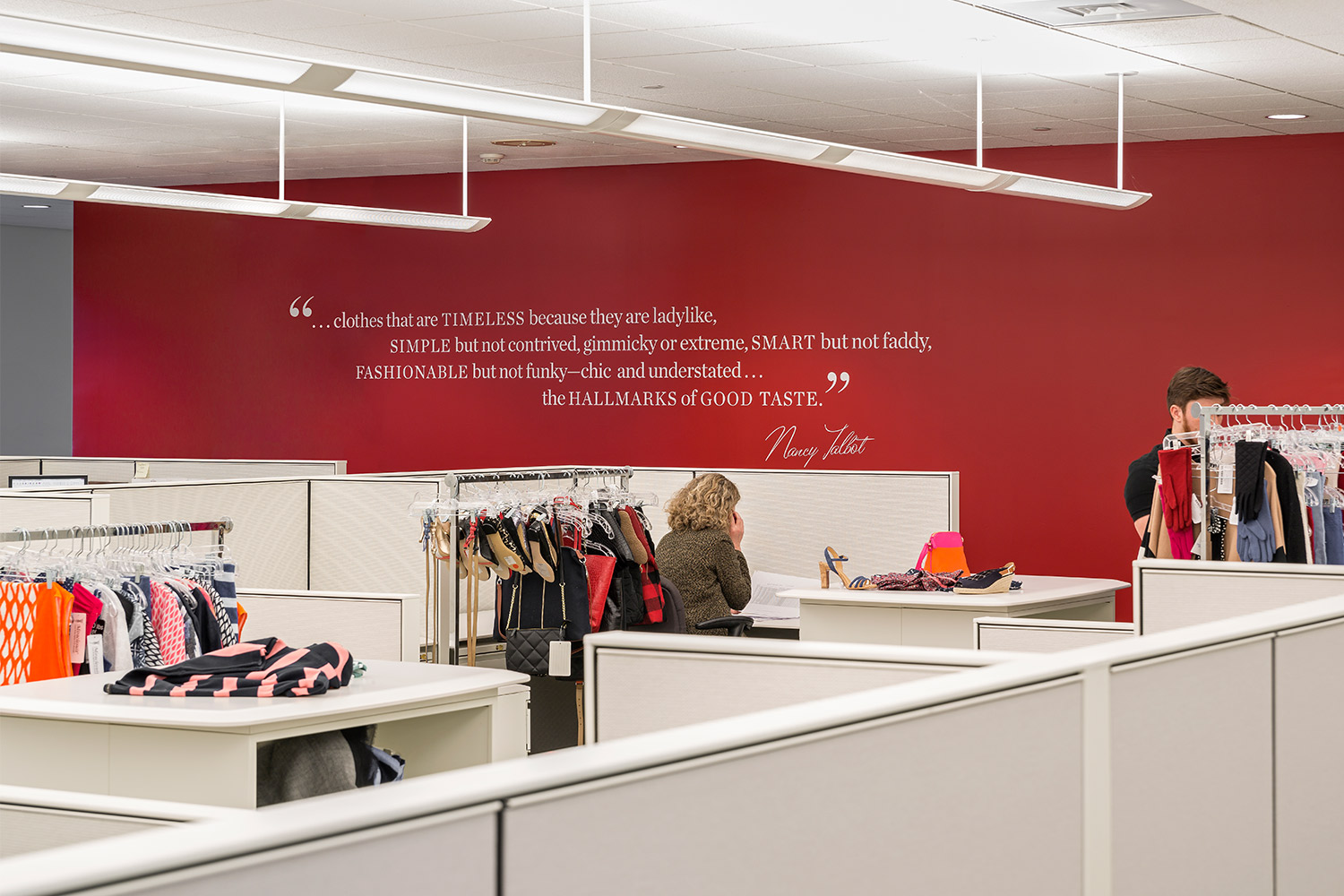 Corporate branding design at Talbots