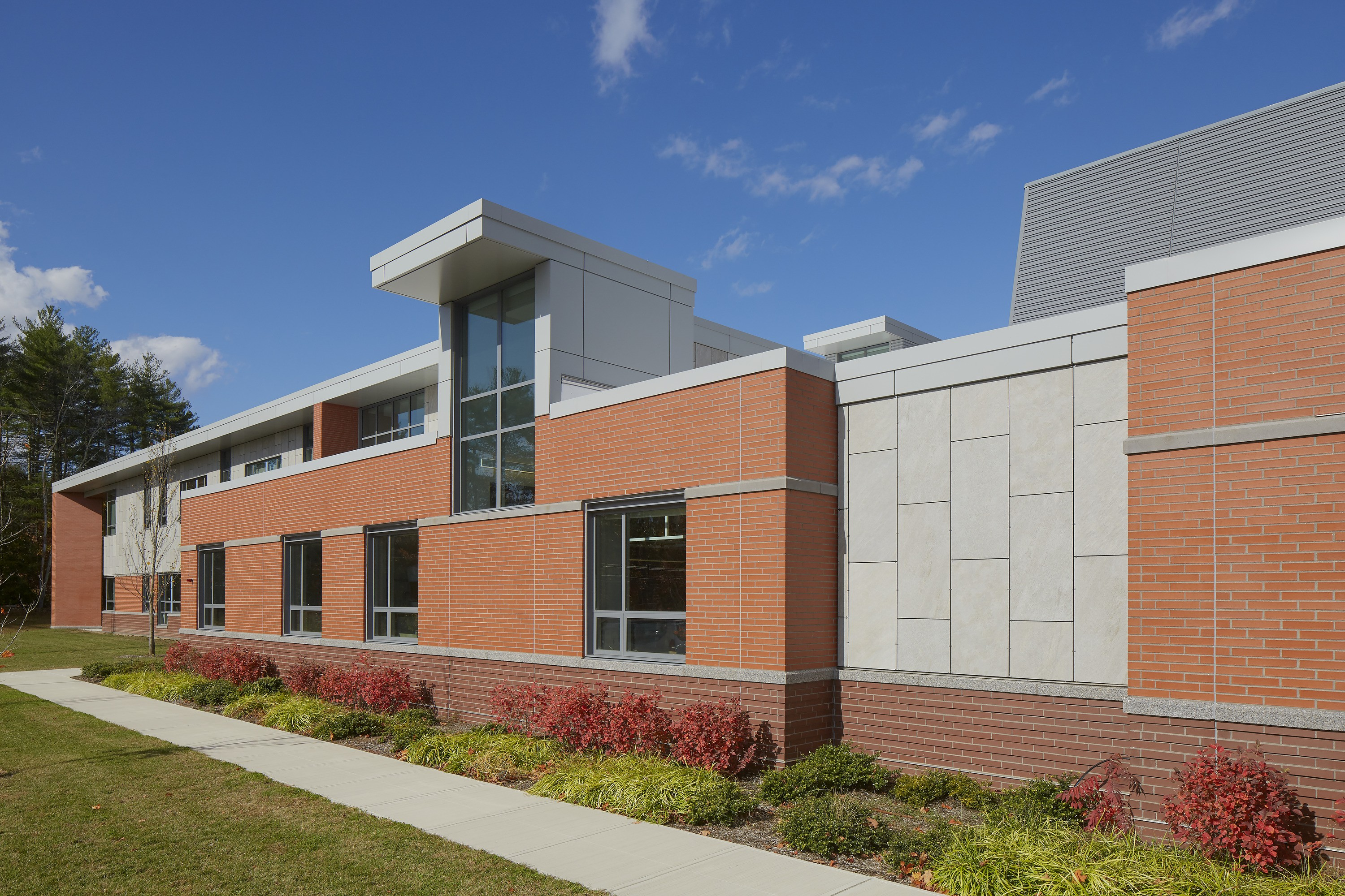 Exterior of North Middlesex Regional High School.