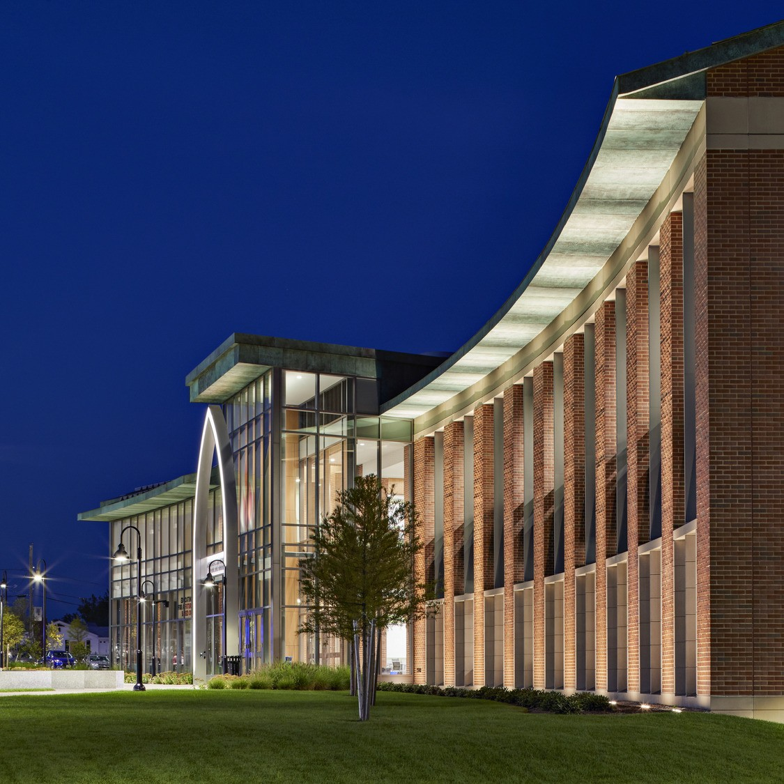 Exterior shot of the Providence College School of Business, the Arthur F. and Patricia Ryan Center for Business Studies.