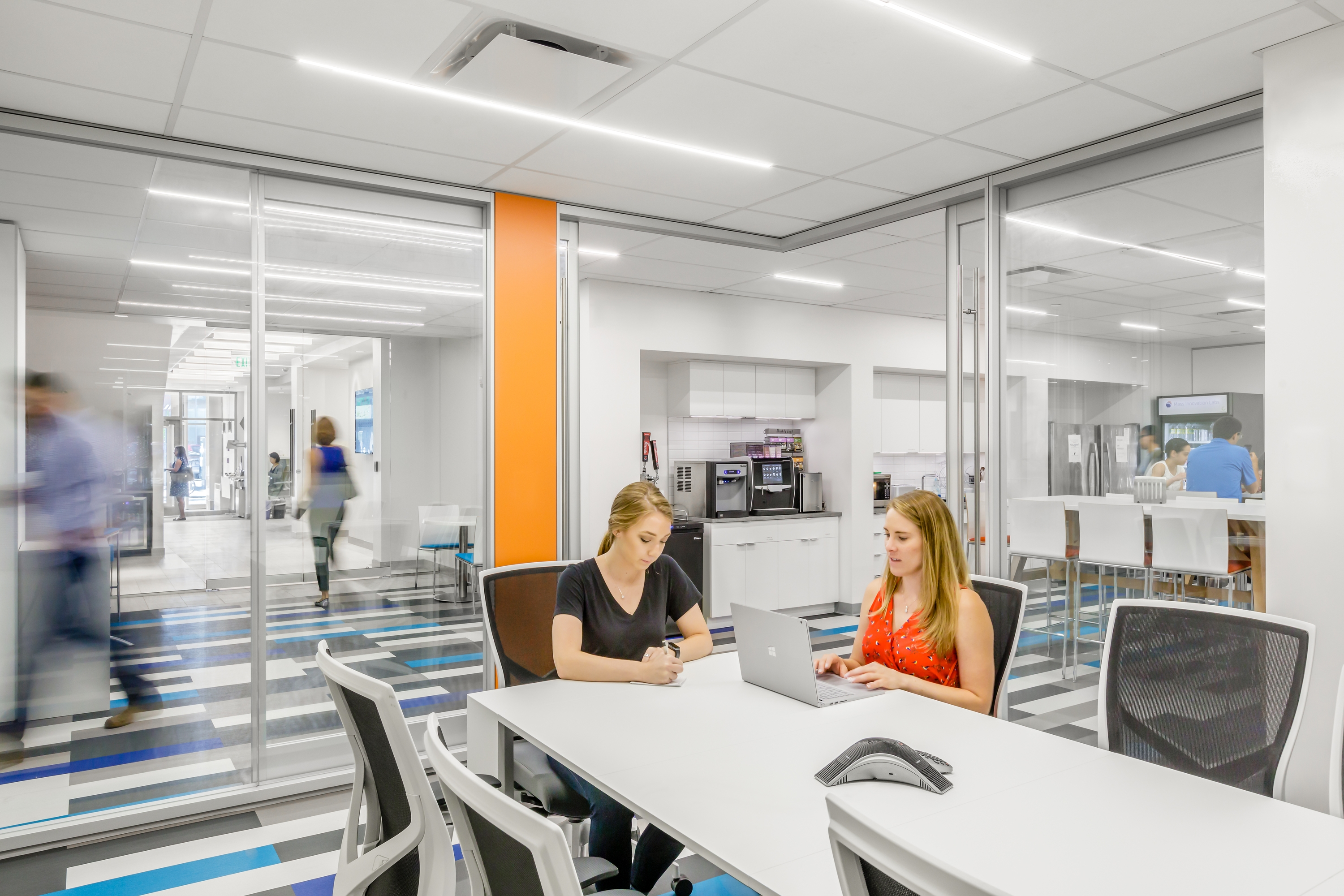 Coworking example at SmartLabs designed by SMMA.