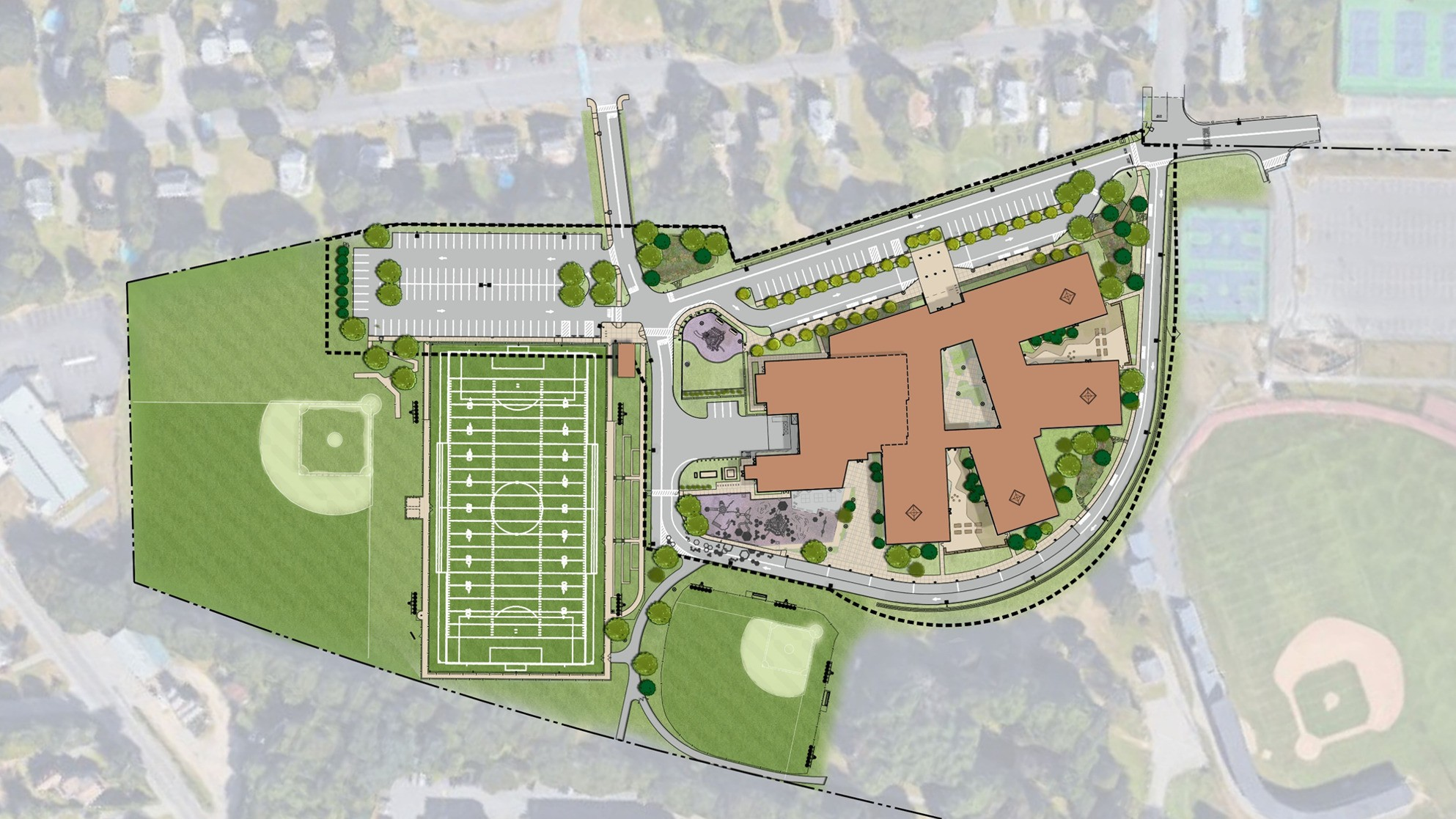 Phelps Elementary site map