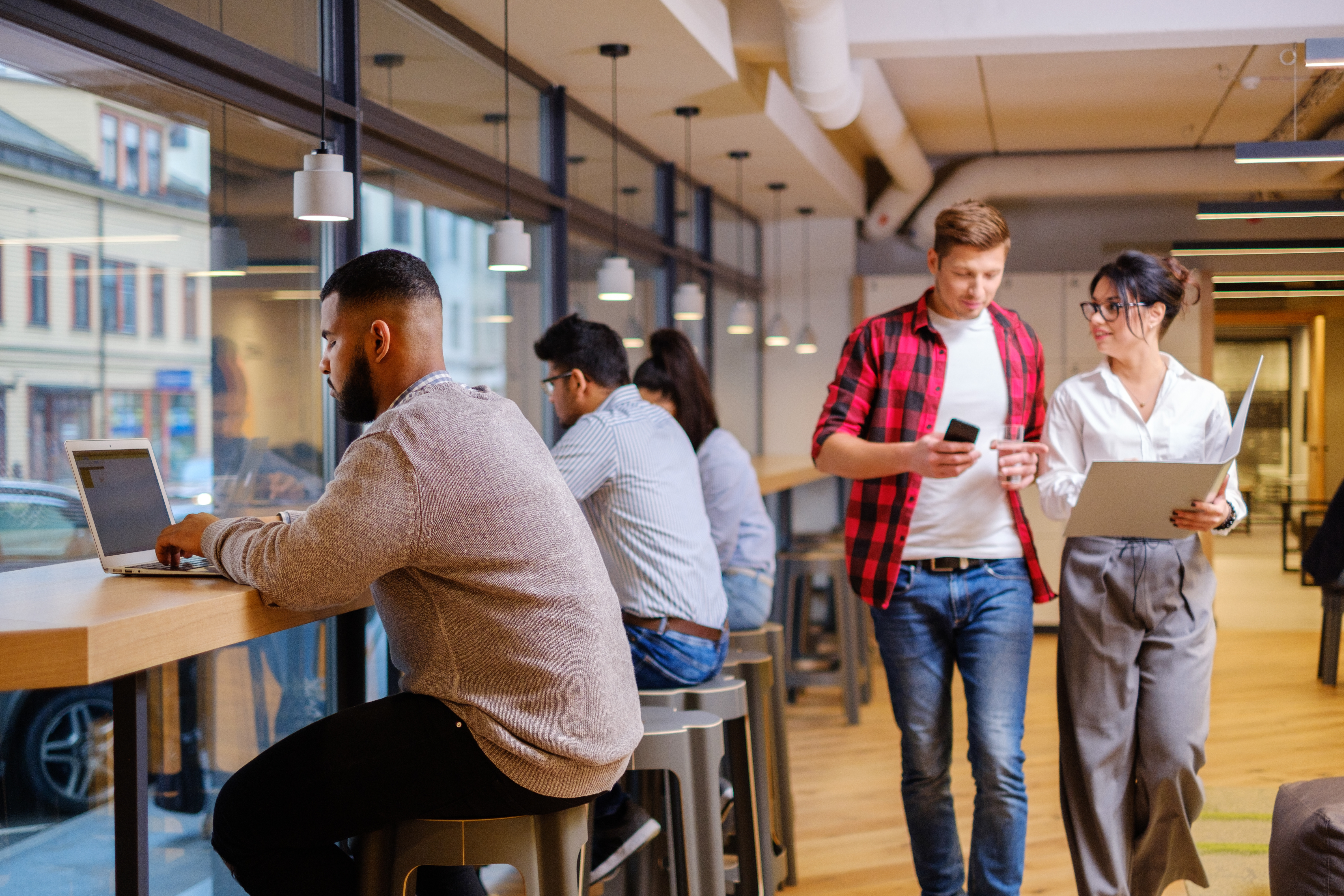 The evolution of coworking in the workplace.