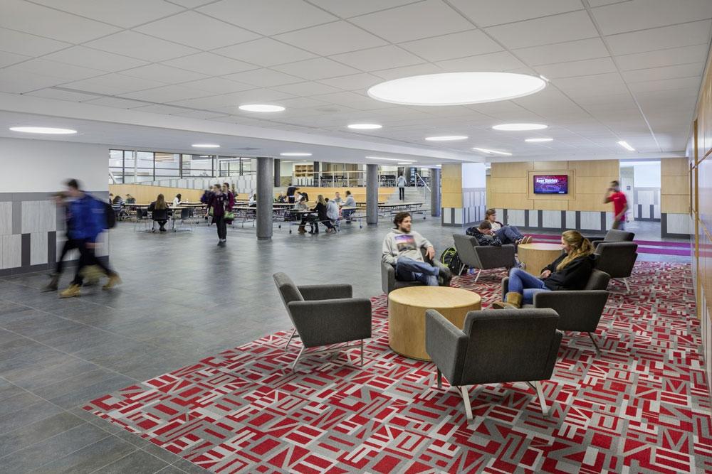 Informal student seating at Ayer Shirley
