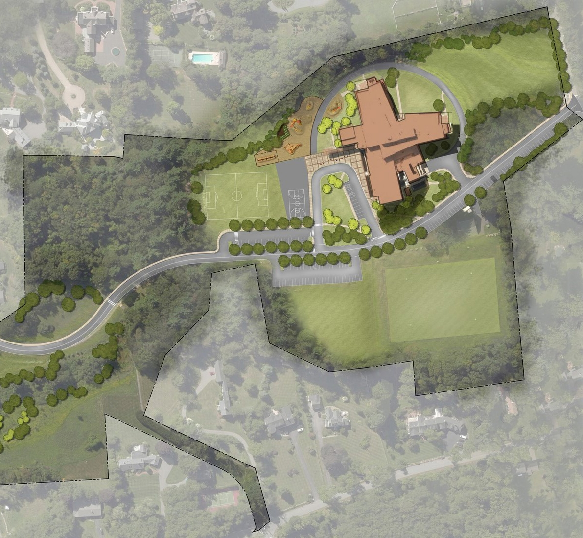 Bancroft Elementary School Site Plan, design by SMMA