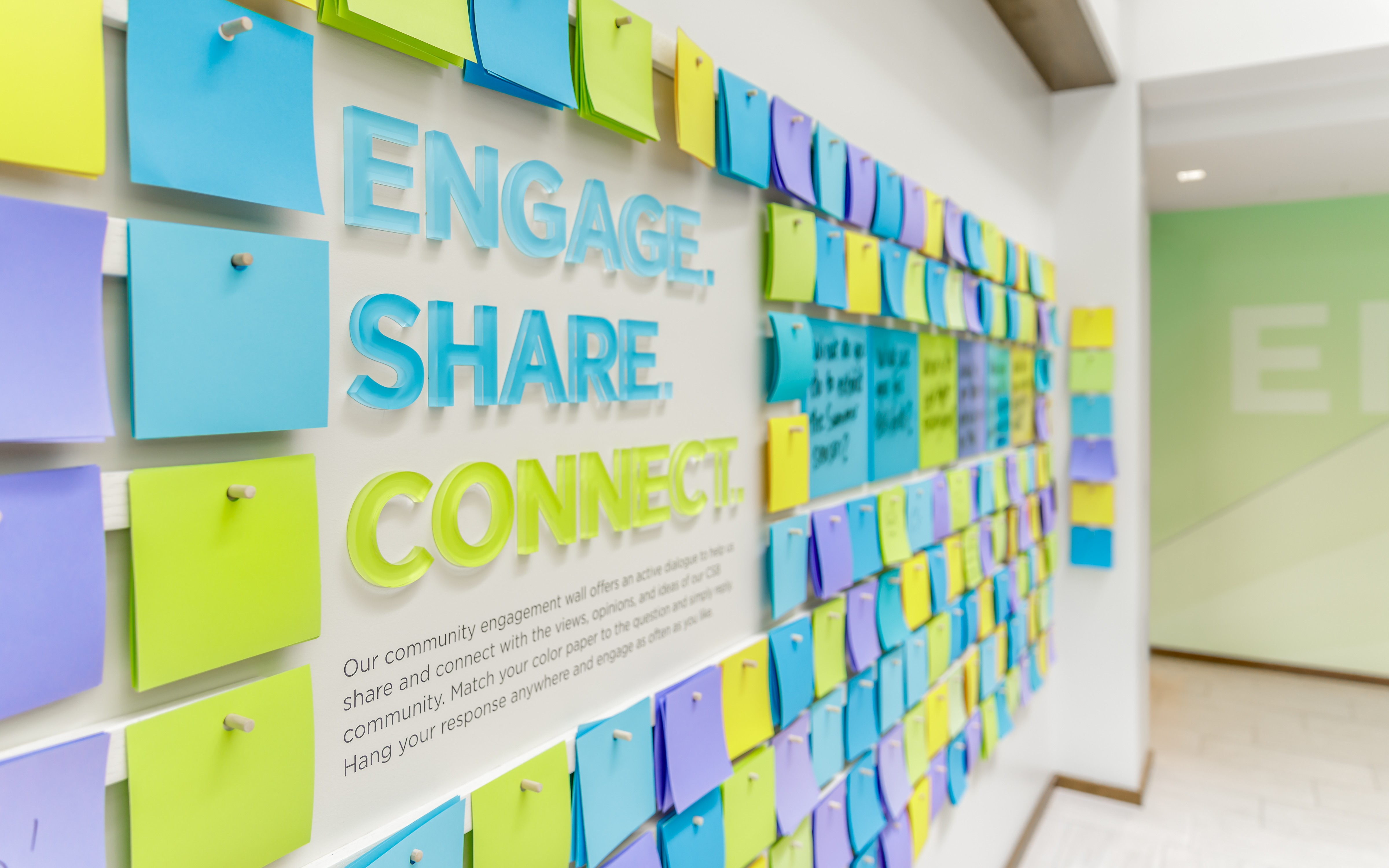 SMMA Design for CSB Headquarters Employee Engagement Wall