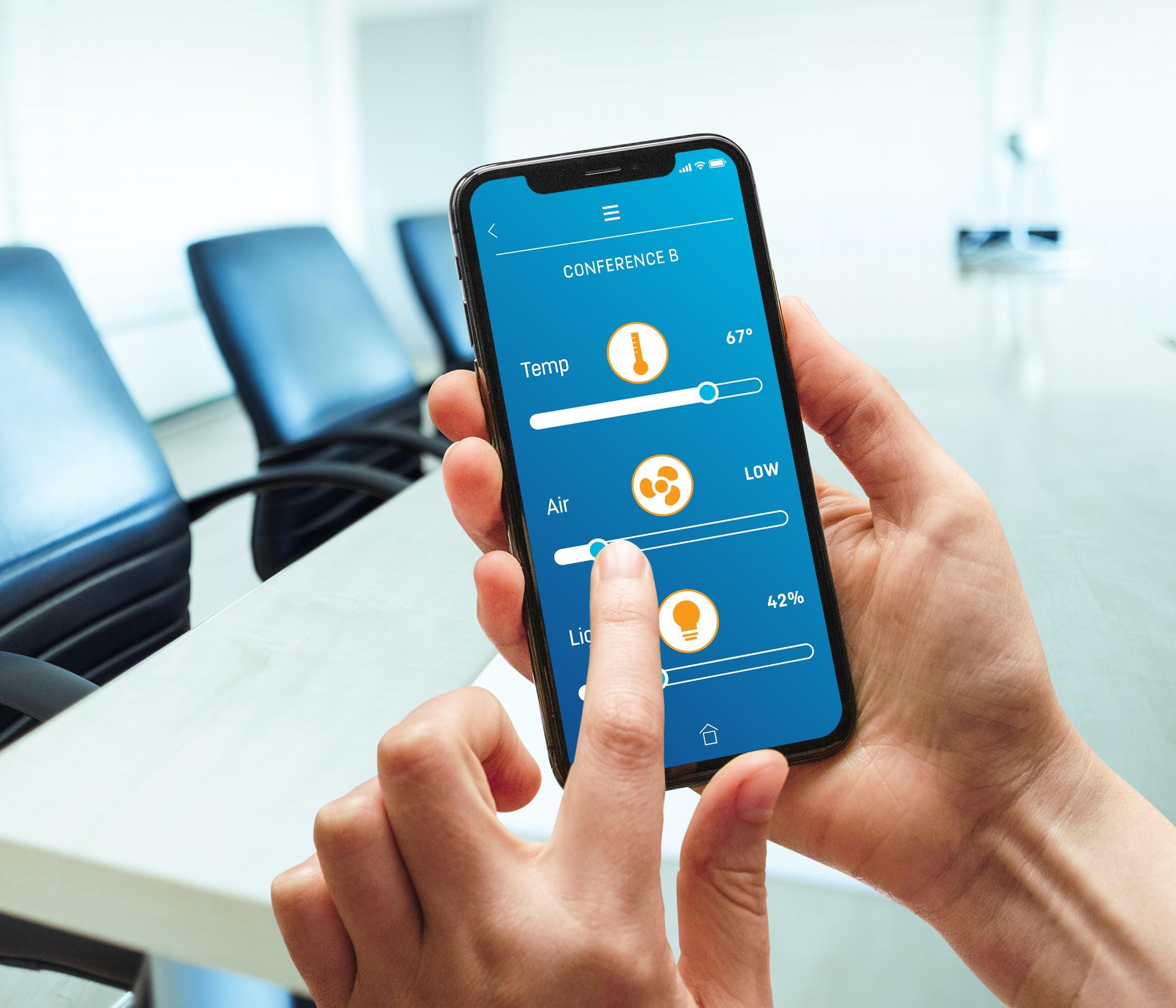 Person Using Energy Regulation App