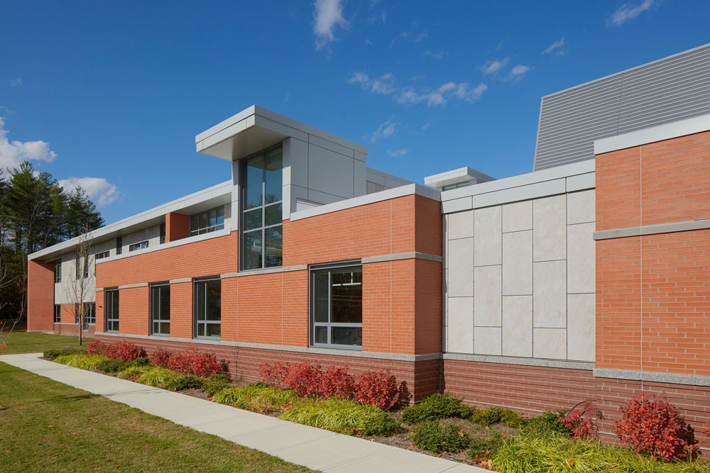 Exterior view of the new North Middlesex Regional High School in Massachusetts