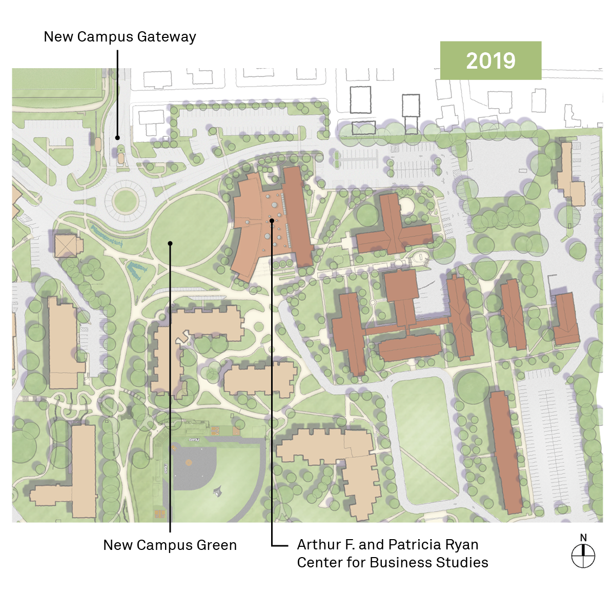 New Providence College campus map.