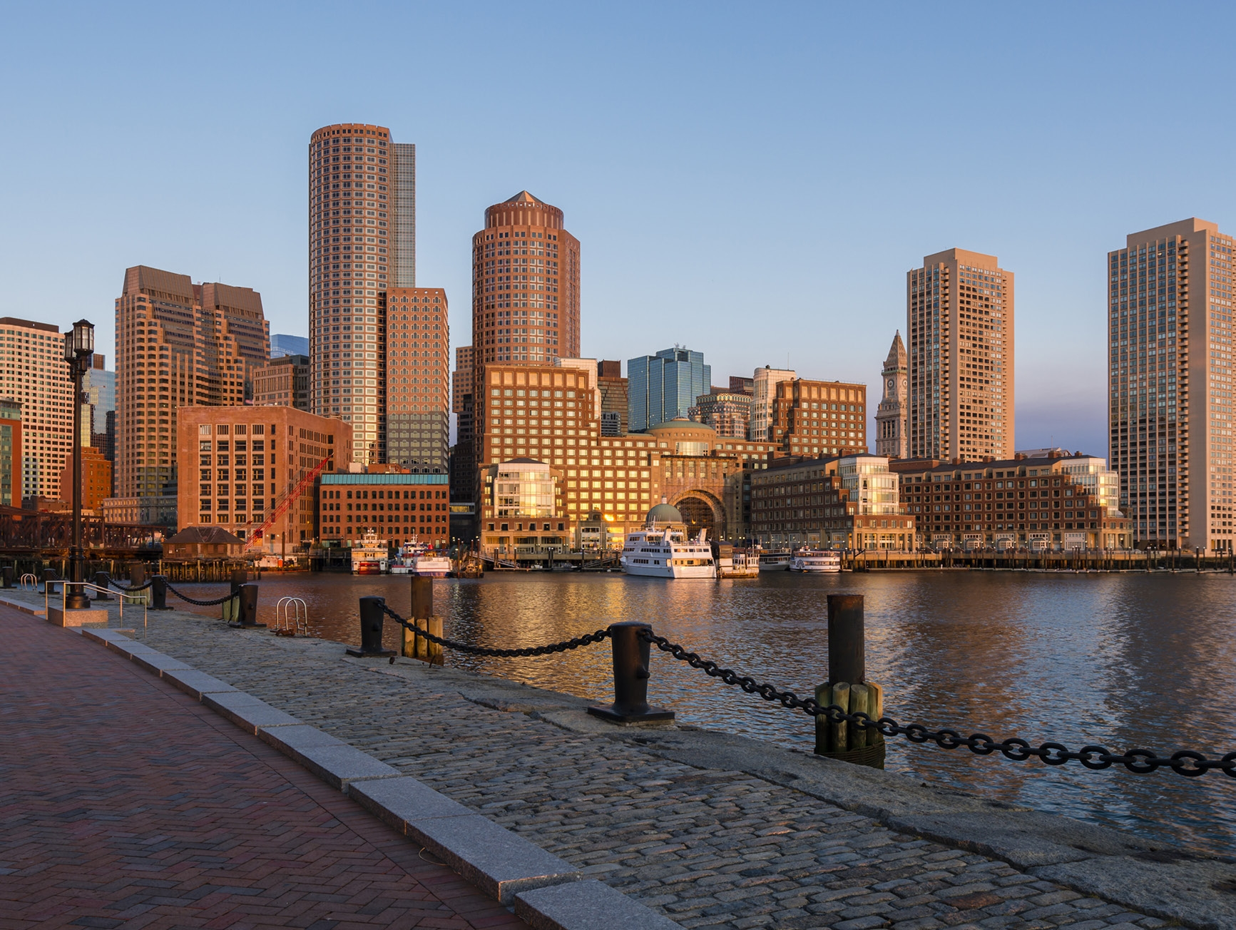 Boston's Seaport District Skyline