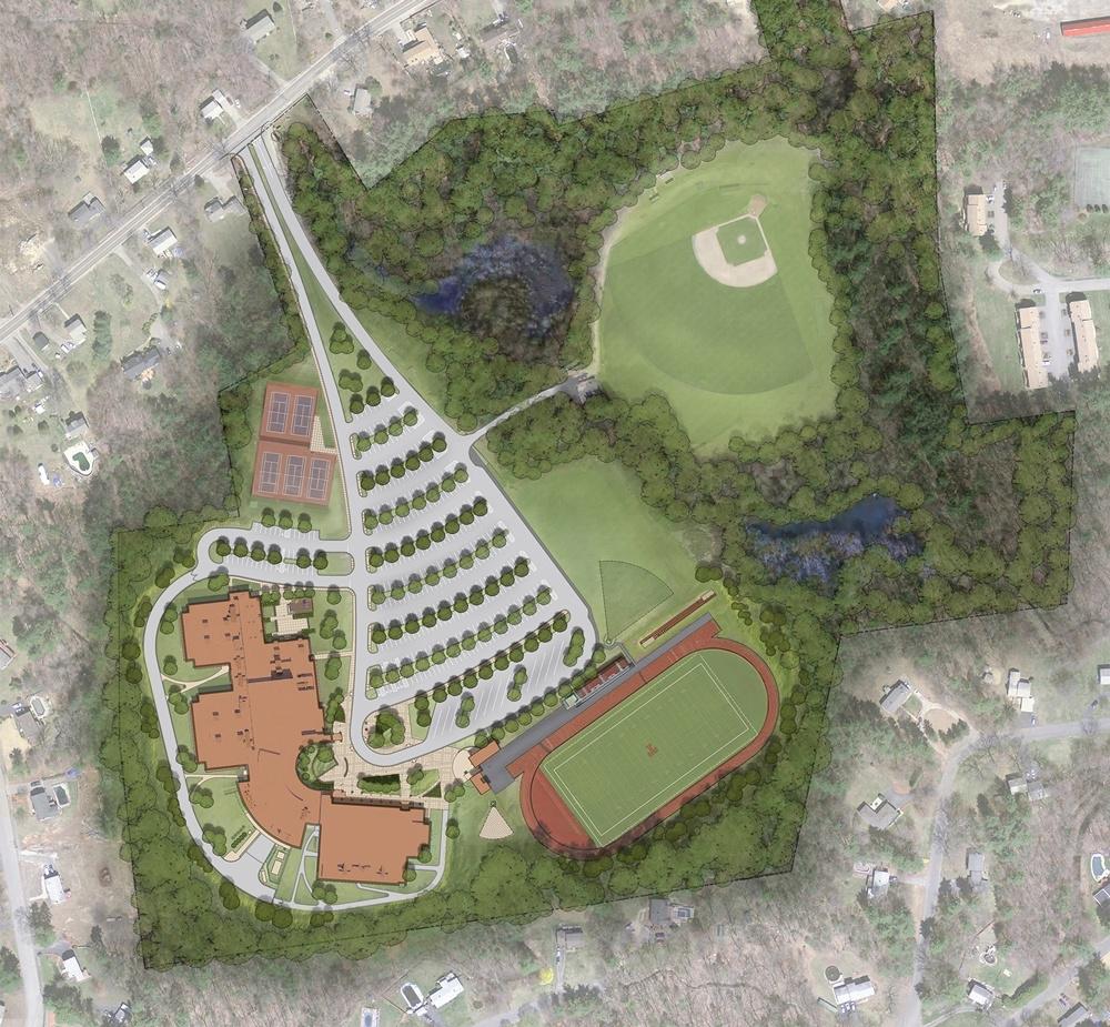 SMMA site plan for Tewksbury High School