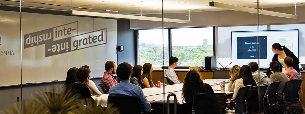 Presentation in the SMMA boardroom in Cambridge MA