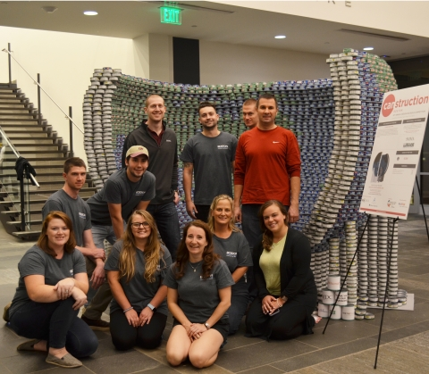 SMMA won Most Cans at the 2019 Boston Canstruction Awards Night.