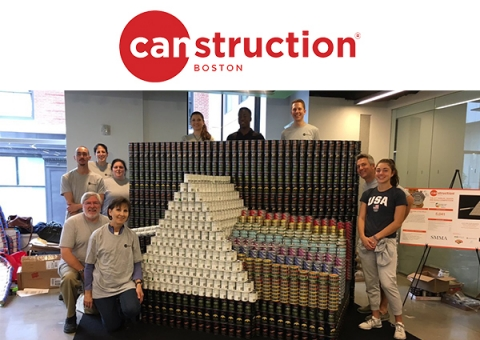 Canstruction Boston Dark Side of the Moon