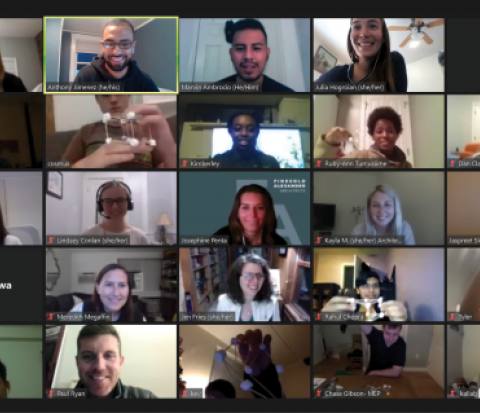 Screenshot from virtual ACE Mentor Session