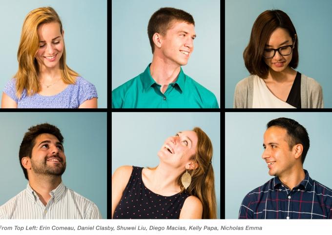 SMMA interns, Kelly Papa, Diego Macias, Shuwei Liu, Nicholas Emma, Erin Comeau, Daniel Clasby