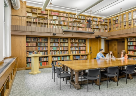 Robinson Hall library at Harvard University