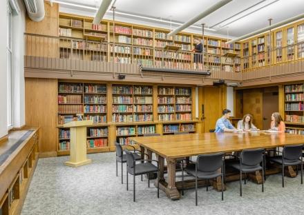 Robinson Hall library at Harvard University