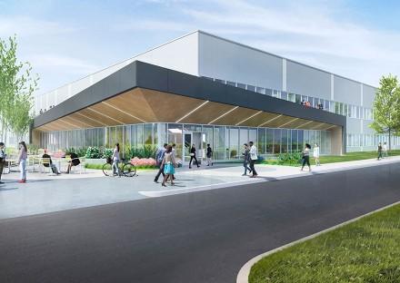 Exterior renderings of Atlantic Management campus at 50 Otis
