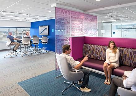 Alnylam interior office design - break out space