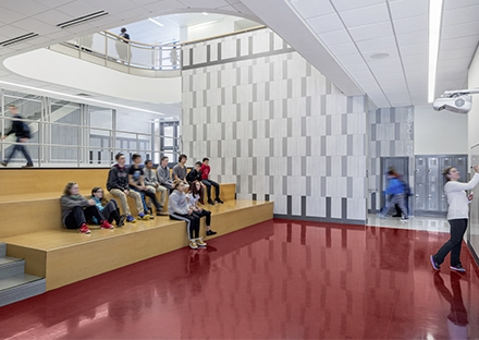 SMMA's Interior Design for Ayer Shirley High School