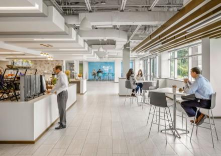 Cafeteria at Cambridge Savings Bank operations center