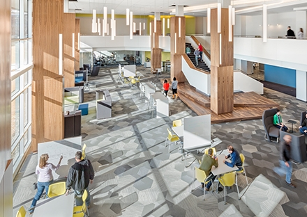 SMMA designed GE Healthcare Life Science Atrium with Daylighting