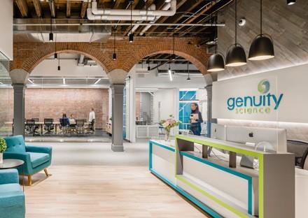 Genuity Science Boston office new reception design