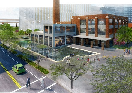 Artist impression of Hood Park Drive landscaping in Charlestown, MA