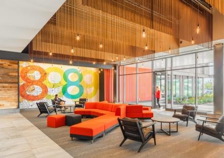 89 A lobby designed by SMMA.