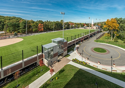 Elevated Athletic Fields & Parking Garage, Worcester Polytechnic Institute