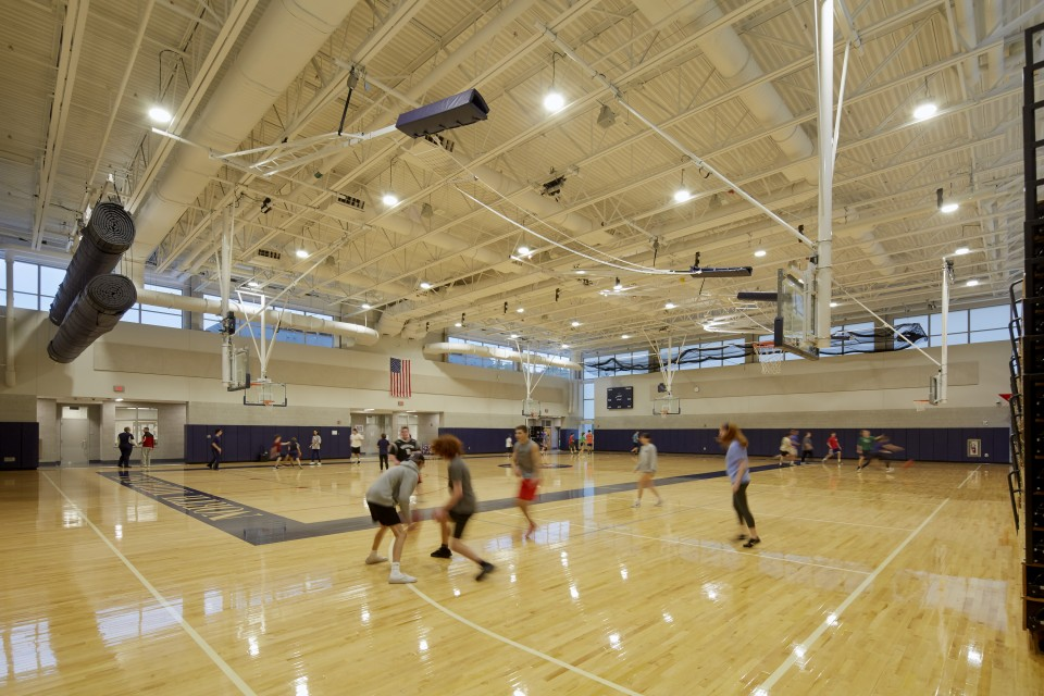 Gym at North Middlesex Regional High School in Townsend, MA.