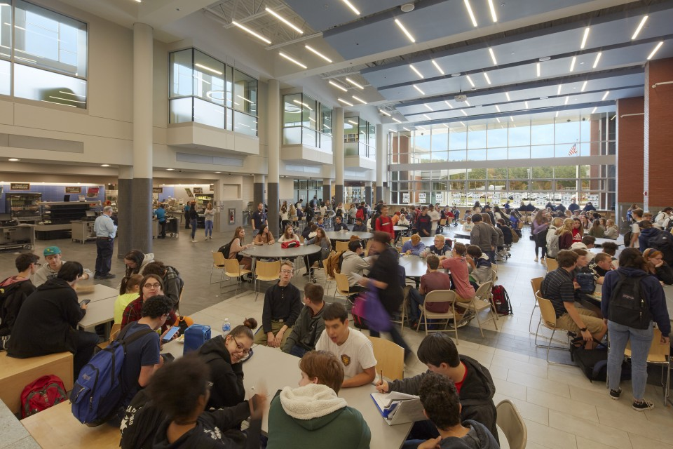 Dining Commons in the North Middlesex Regional High School in Townsend, MA.