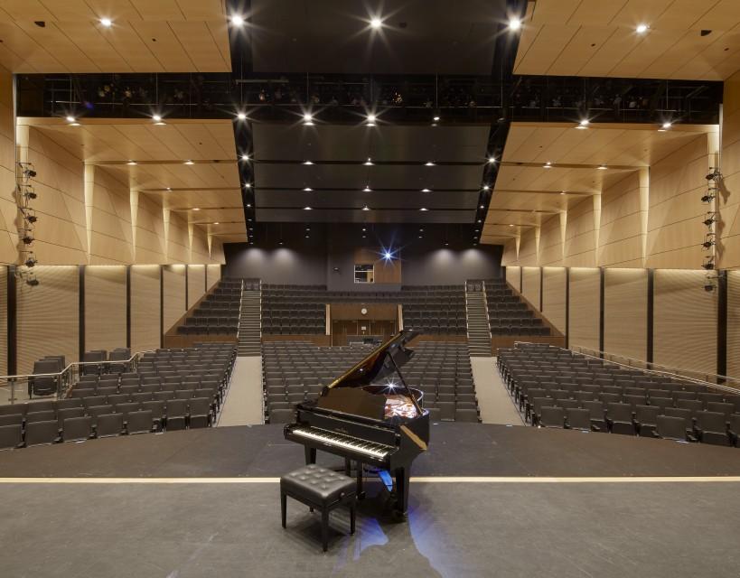 Auditorium in the North Middlesex Regional High School.