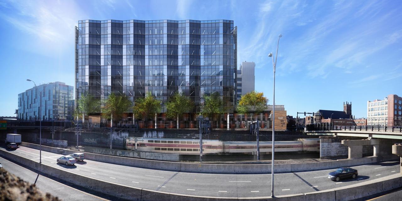 321 Harrison Avenue Boston South End Office Building Mass Pike Curtainwall
