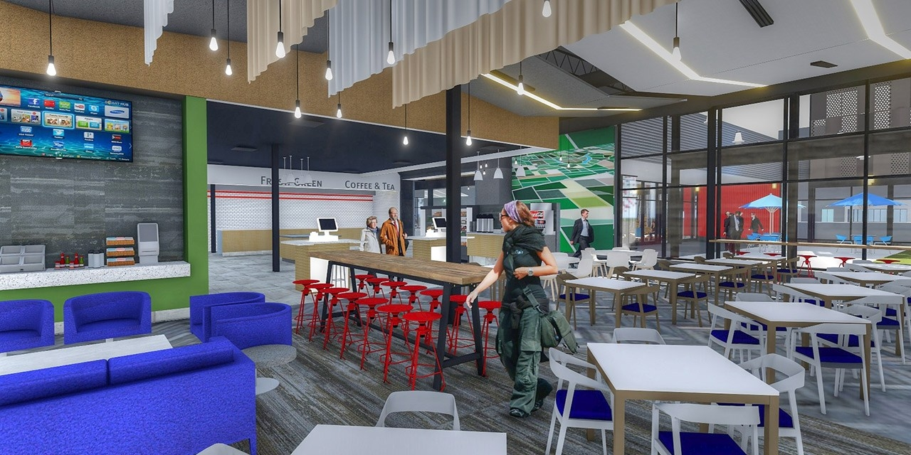 Design Rendering of Interior Cafe
