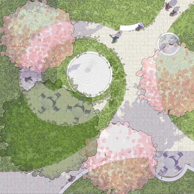 Garden site planning at 89 A Street Founders Park | SMMA Landscape Design