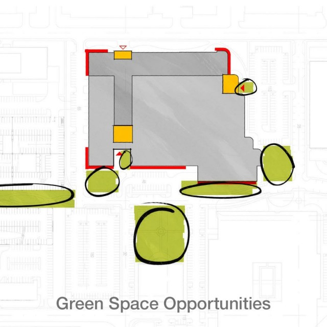 Sketch of Green Space Opportunities at 89 A Street Founders Park | SMMA Landscape Design