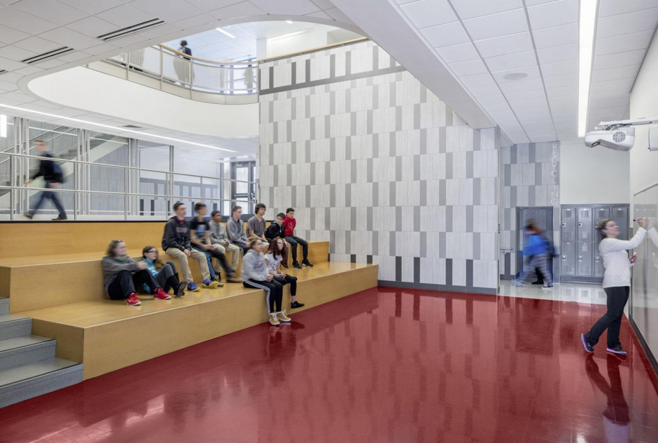 SMMA's Hallway Design for Ayer Shirley School