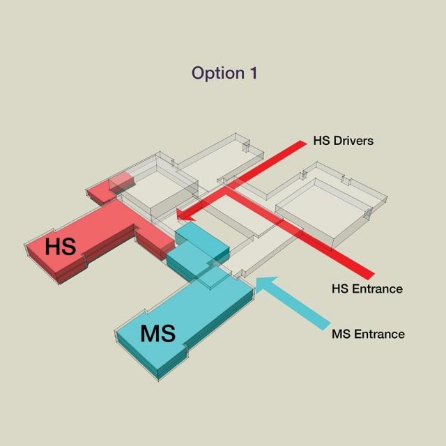 School Floor layout option