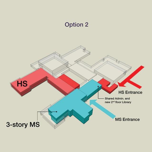 School Floor layout option 2
