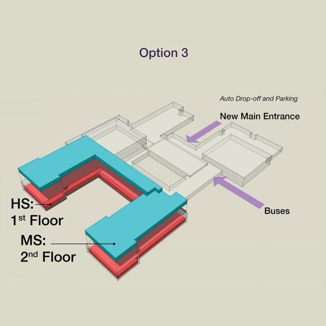 School Floor layout option 3