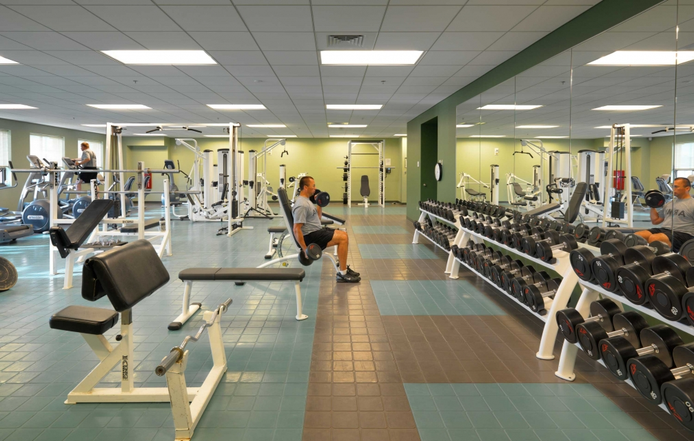 Fort Devens fitness room design