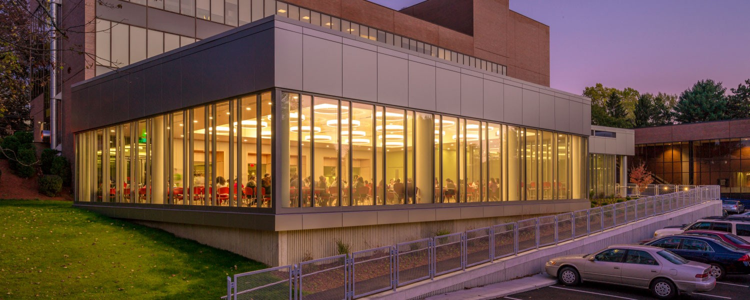 Framingham State McCarthy Dining Commons and Campus Center Exterior SMMA