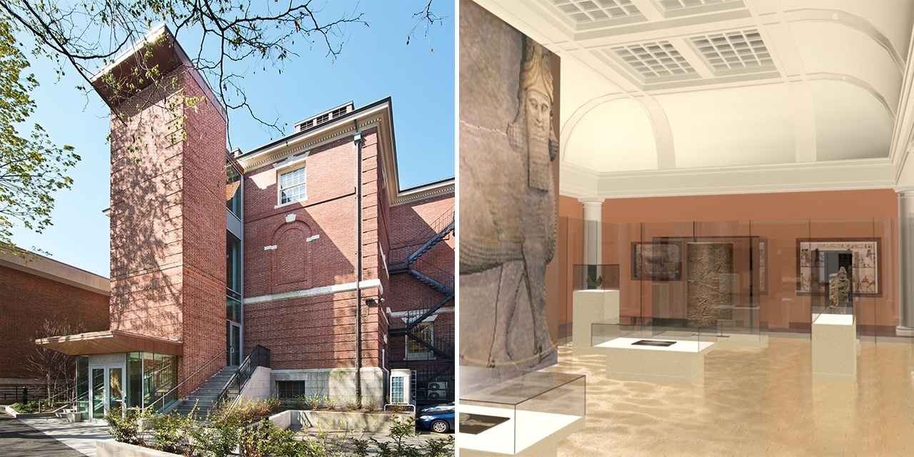 Interior and exterior design of Harvard Semitic Museum and Gallery