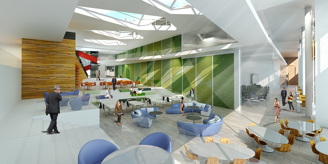 Interior Rendering of College Student Center