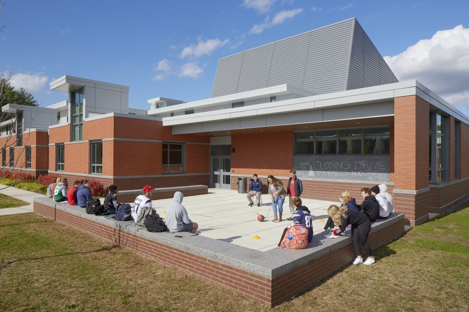 Outdoor classroom in North Middlesex Regional High School.